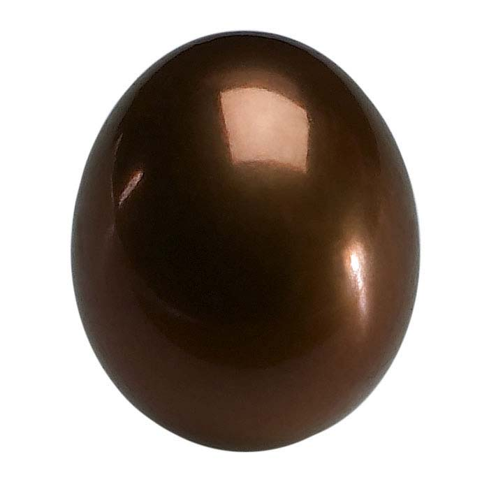 Freshwater Cultured Half-Drilled 8–8.5mm Drop Pearl, Chocolate, A-Grade