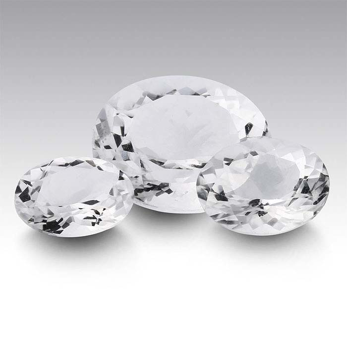 American Mined™ Arkansas Ice Quartz™ Oval Faceted Stones