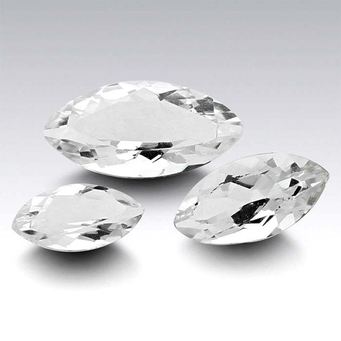American Mined™ Arkansas Ice Quartz™ Marquise Faceted Stones
