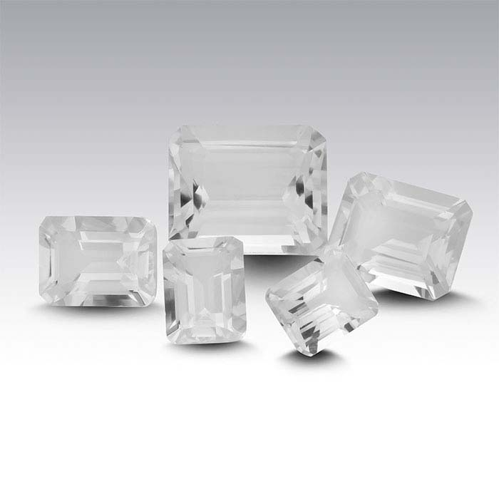 American Mined™ Arkansas Ice Quartz™ Radiant Faceted Stones