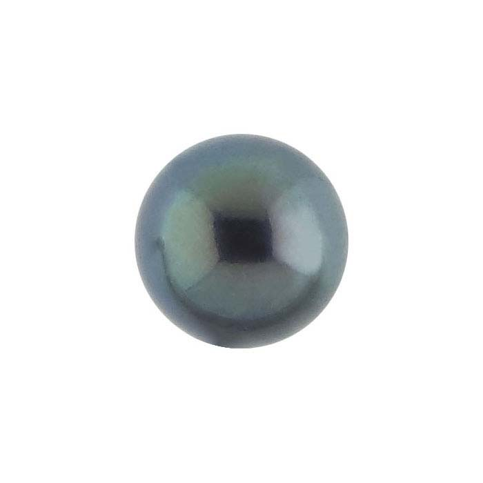 Freshwater Cultured Half-Drilled 6.5mm Round Pearl, Black, A-Grade