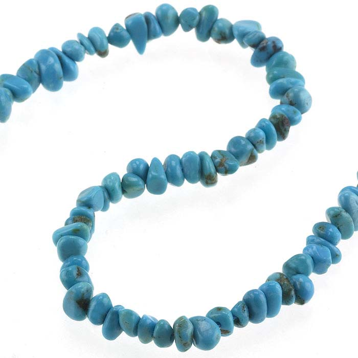 Chinese Turquoise Nugget Bead Strands