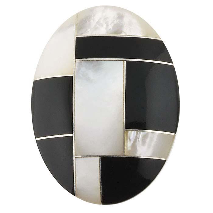 Multi-Stone Mosaic 25 x 18mm Oval Cabochon