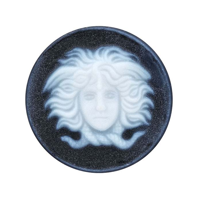Black Agate 16mm Round Hermes Cameo