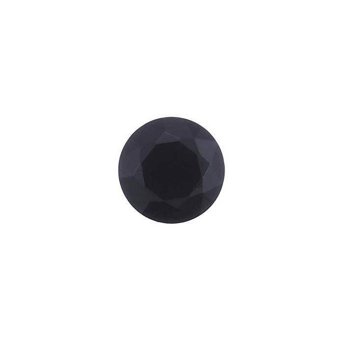 Black Spinel Round Faceted Stones