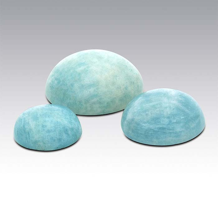 American Mined™ Amelia Teal Amazonite™ Round Cabochons, A-Grade