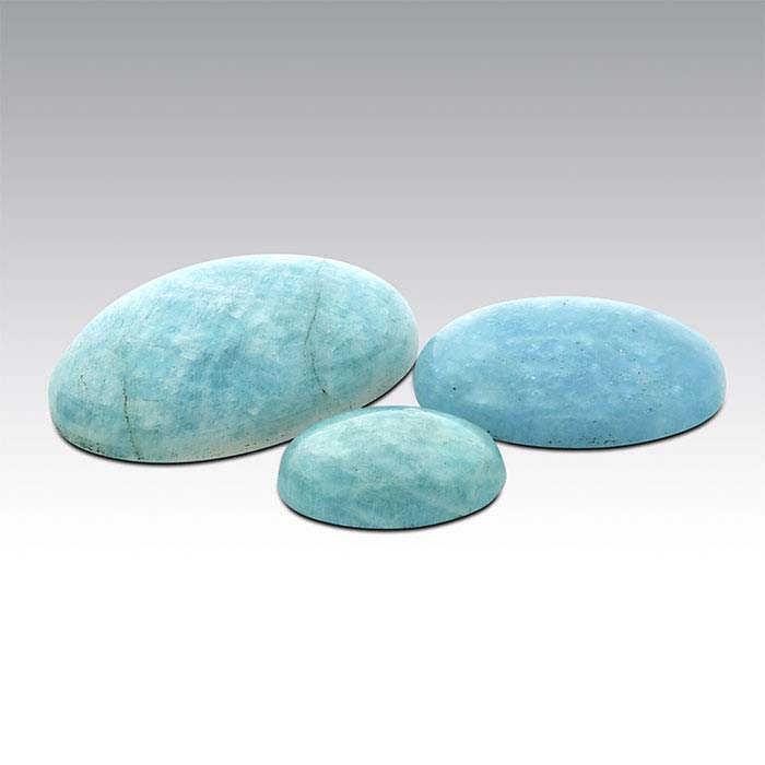 American Mined™ Amelia Teal Amazonite™ Oval Cabochons, A-Grade