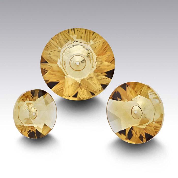 Lehrer Quasar™ Golden Citrine Round Faceted Stones