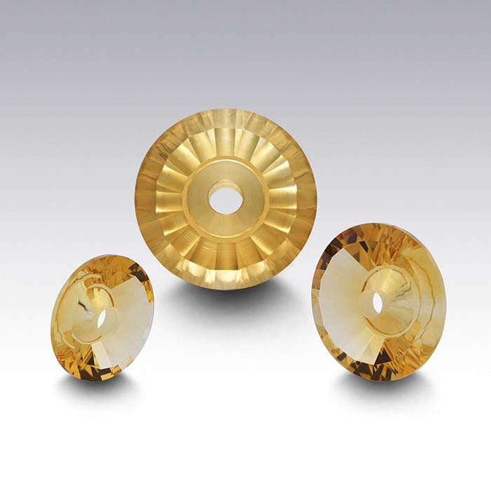 Lehrer TorusGem™ Golden Citrine Round Faceted Stones
