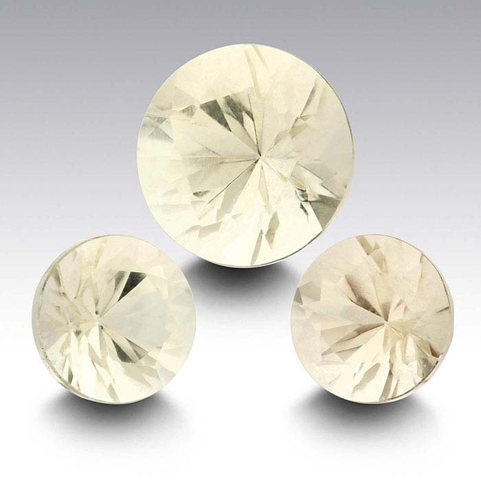 American Mined™ Oregon Champagne Sunstone™ 6mm Round Faceted Stone