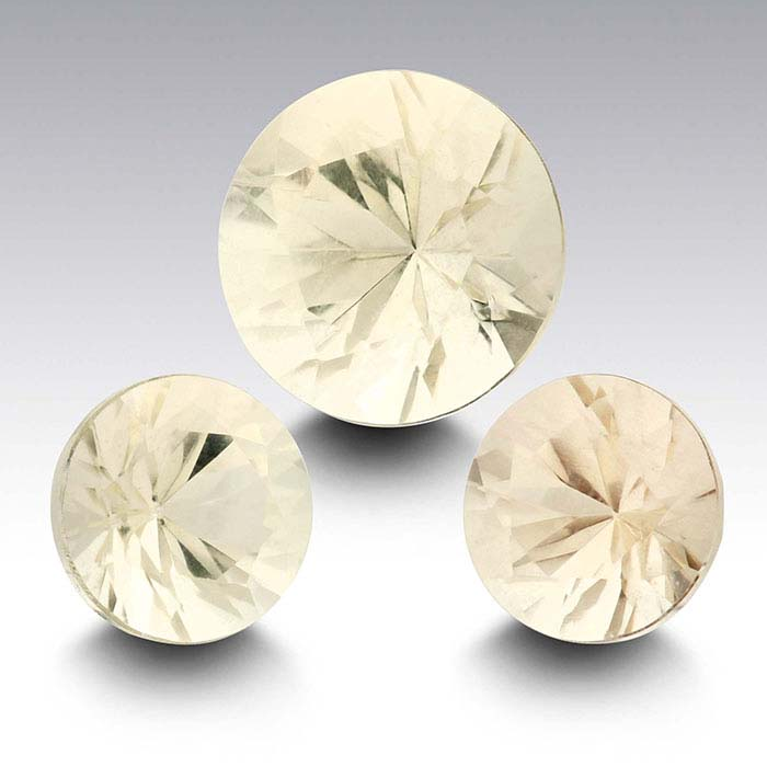 American Mined™ Oregon Champagne Sunstone™ 8mm Round Faceted Stone