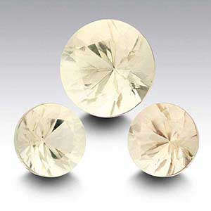 American Mined&trade Oregon Champagne Sunstone Round Faceted Stone