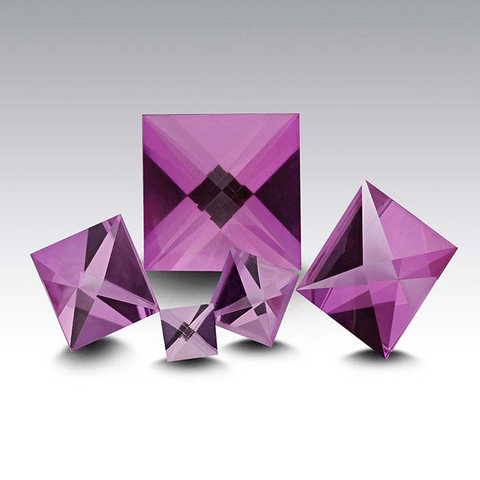 CONTEXT CUT™ Lab-Created Pink Sapphire 4mm Square Faceted Stone