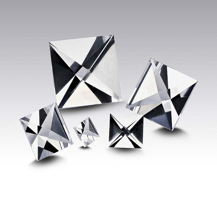 Lab-Created CONTEXT CUT™ White Sapphire Square Faceted Stones