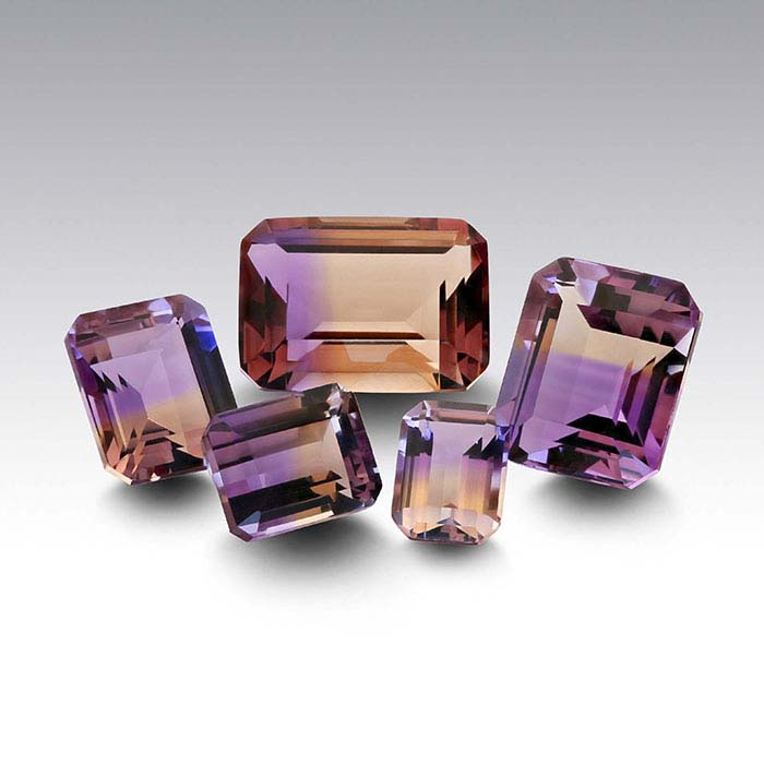 Ametrine Octagon Faceted Stones