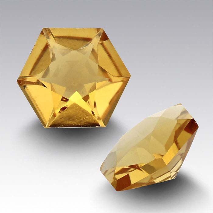 Citrine 5mm Hexagon Faceted Stone
