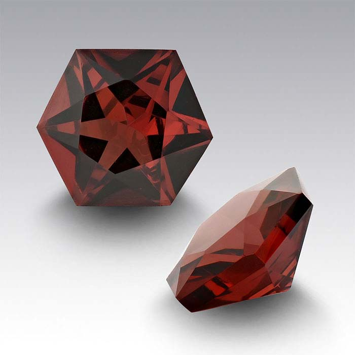 Garnet 5mm Hexagon Faceted Stone