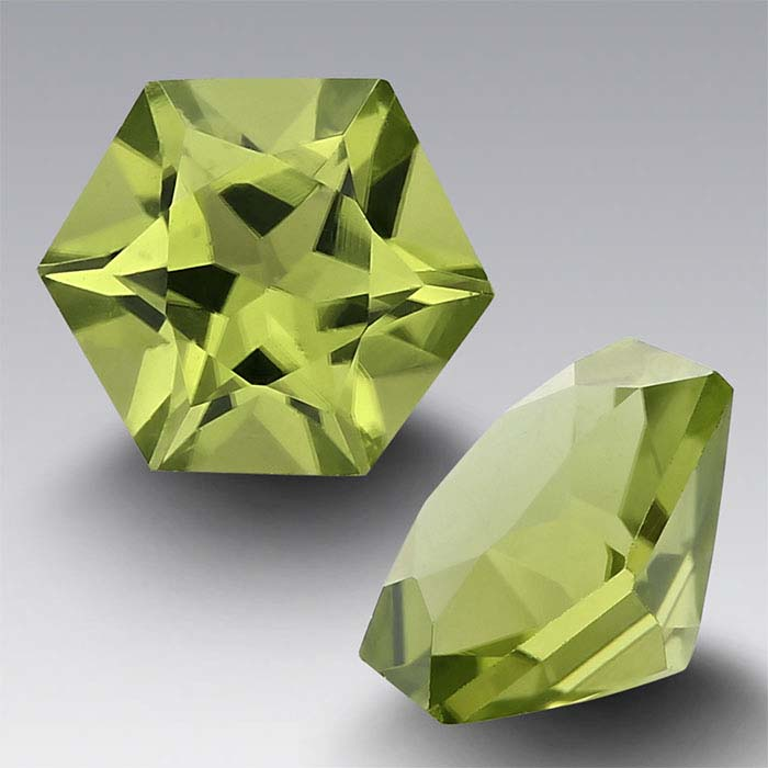 American Mined Arizona Peridot 5mm Hexagon Faceted Stone