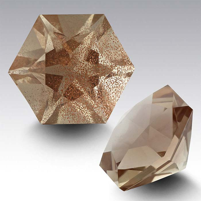 American Mined&trade Oregon Schiller Sunstone Hexagon Faceted Stone
