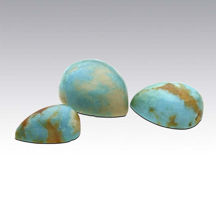American Mined™ Mona Lisa Turquoise™ Pear Cabochons