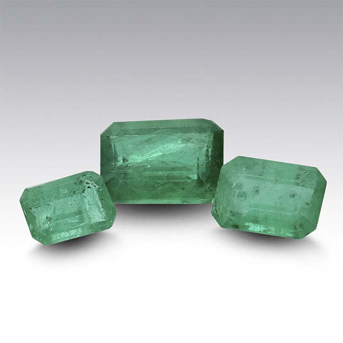 Emerald Octagon Faceted Stones, AA-Grade