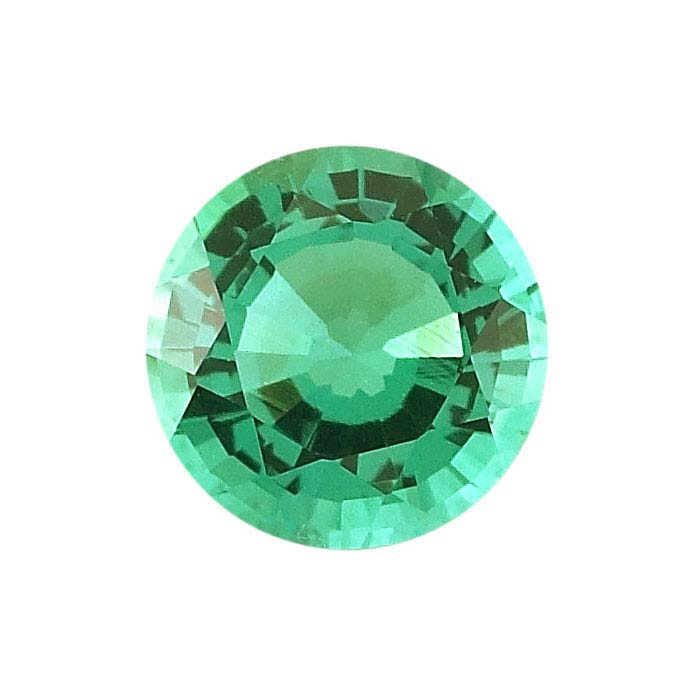 Lab-Created Emerald Round Faceted Stones