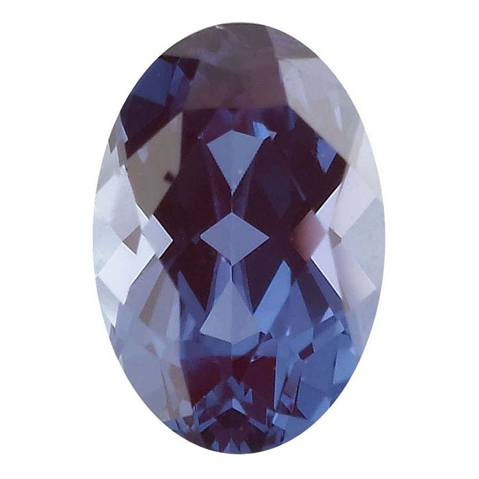 Lab-Created Alexandrite 7 x 5mm Oval Faceted Stone