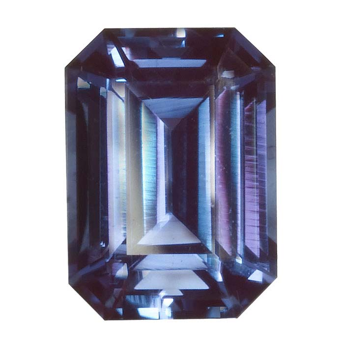 Lab-Created Alexandrite 7 x 5mm Octagon Faceted Stone