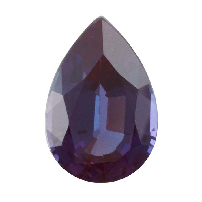 Lab-Created Alexandrite   Pear Faceted Stones