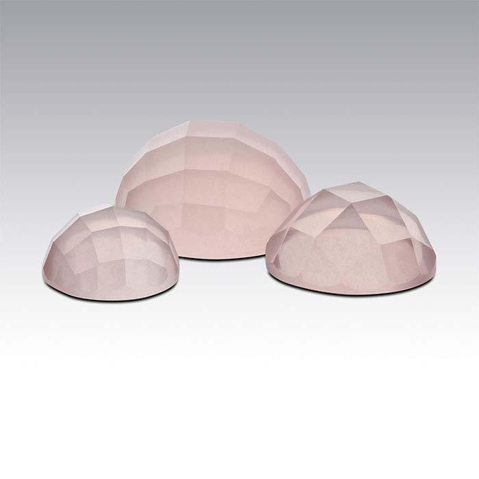 Rose Quartz Round Rose-Cut Cabochons