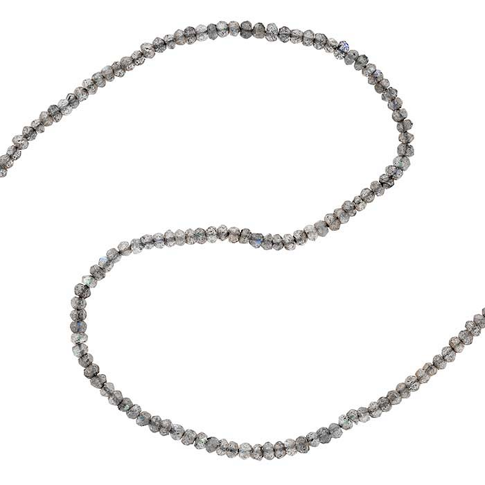 Labradorite 2.5–3mm Faceted Round Bead Strand