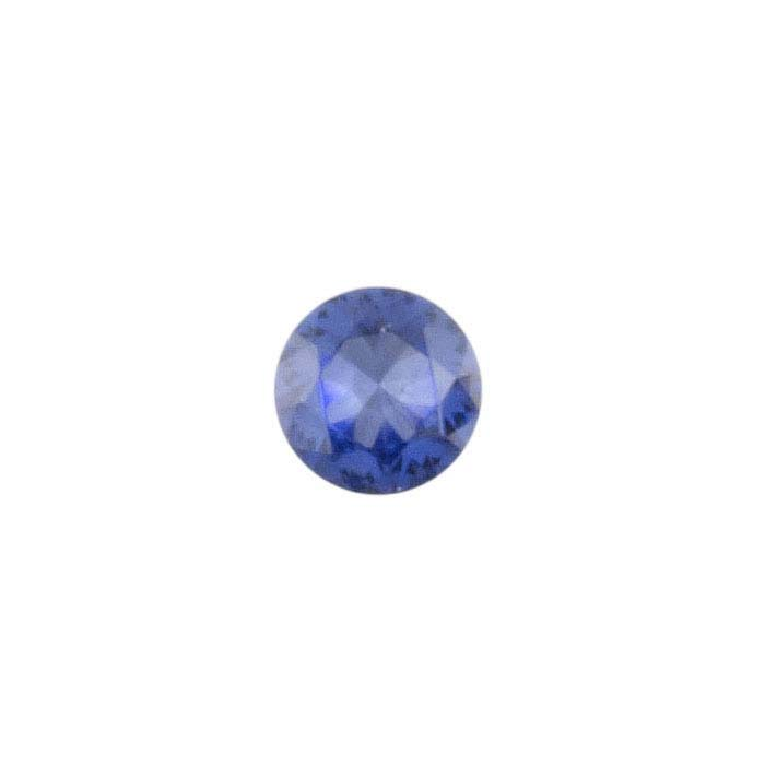 Simulated Tanzanite  Round Faceted Stones