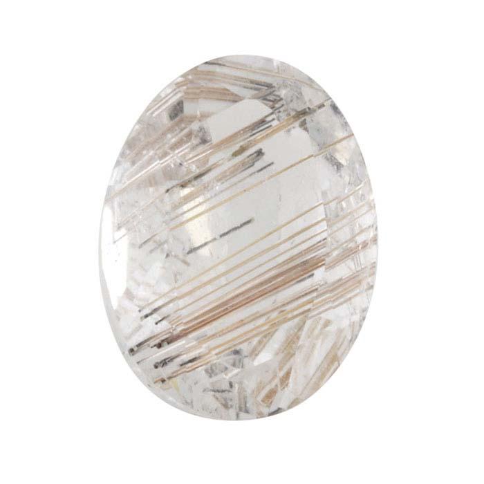 Rutilated Quartz Cuts Copper Rutilated Quartz Faceted Cut Oval Stone 19x14x7.5 MM #4638 Copper Rutilated Quartz Gemstone Cut Stone