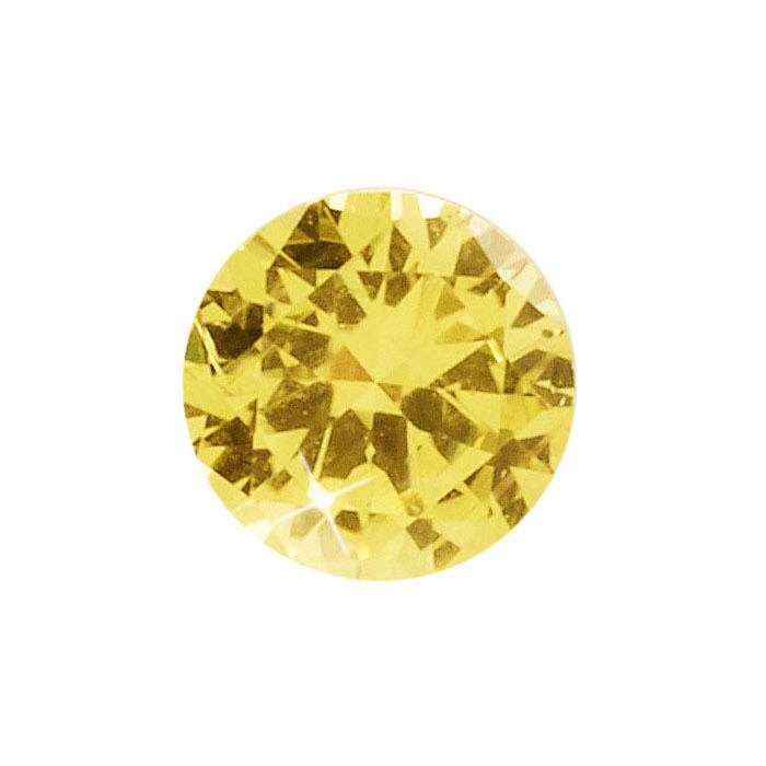 Yellow Sapphire  Round Faceted Stones, AAA-Grade