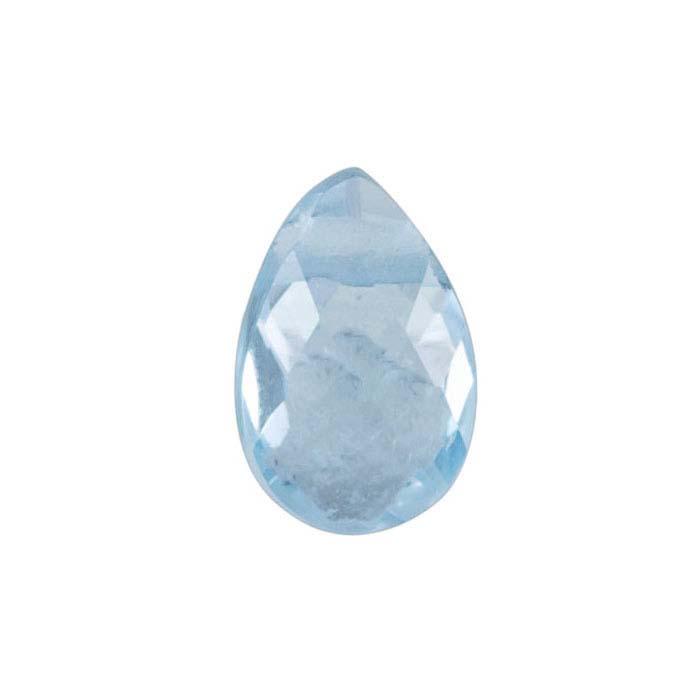Sky Blue Topaz 6 x 4mm Pear-Shaped Briolette Bead