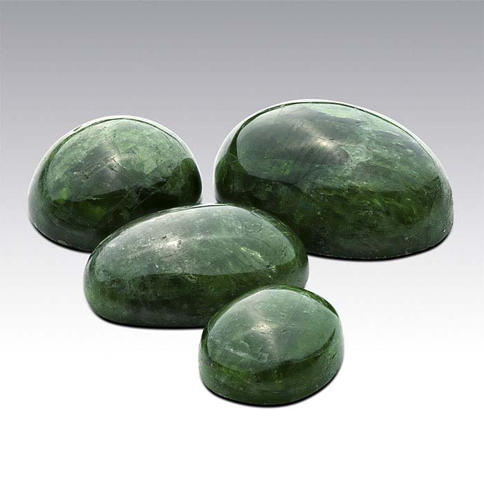 Chrome Diopside Oval Cabochons