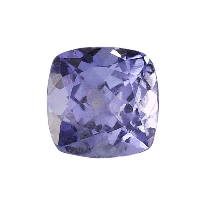 Tanzanite 6mm cushion faceted stone