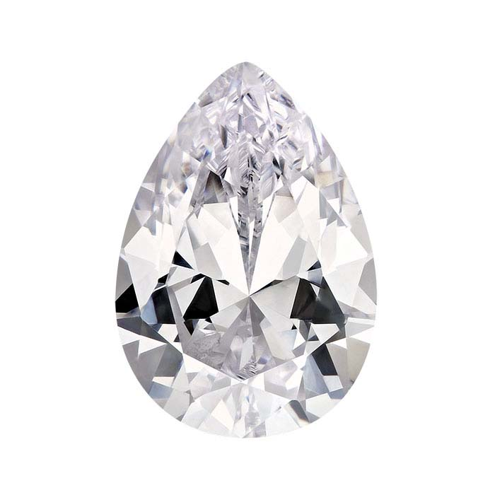 White CZ Pear Faceted Stones