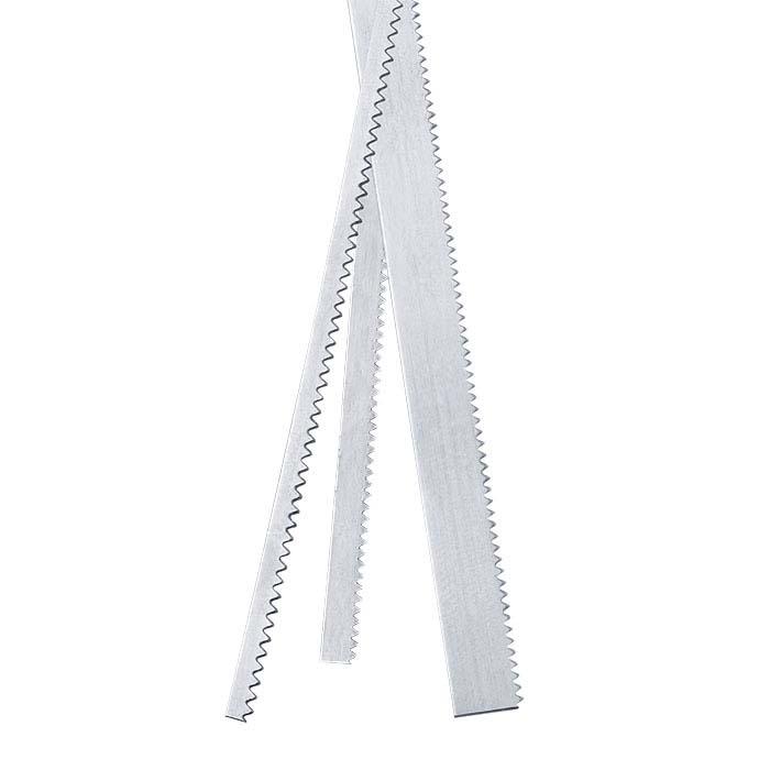 """.999 Fine Silver 3/32"""" Serrated Strip, 30-Ga., Dead-Soft"""