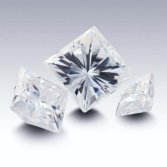 Charles & Colvard® Forever One™ Moissanite Square Brilliant Faceted Stones, D-F Color