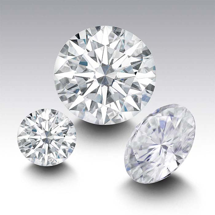 Charles & Colvard® Forever One™ Moissanite Round Faceted Stones, Near-Colorless
