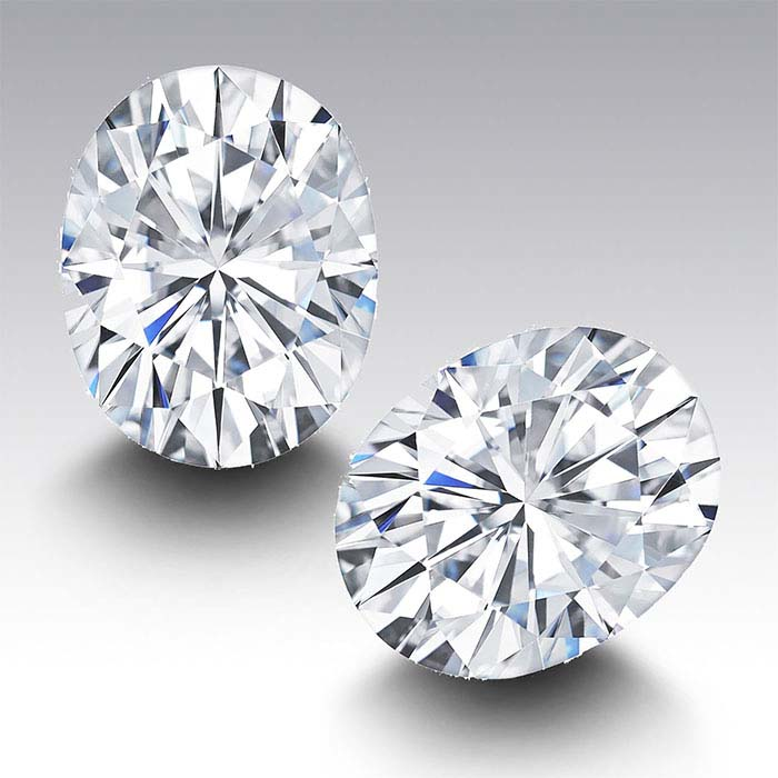 Charles & Colvard® Forever One™ Moissanite Oval Faceted Stones, D-F Color
