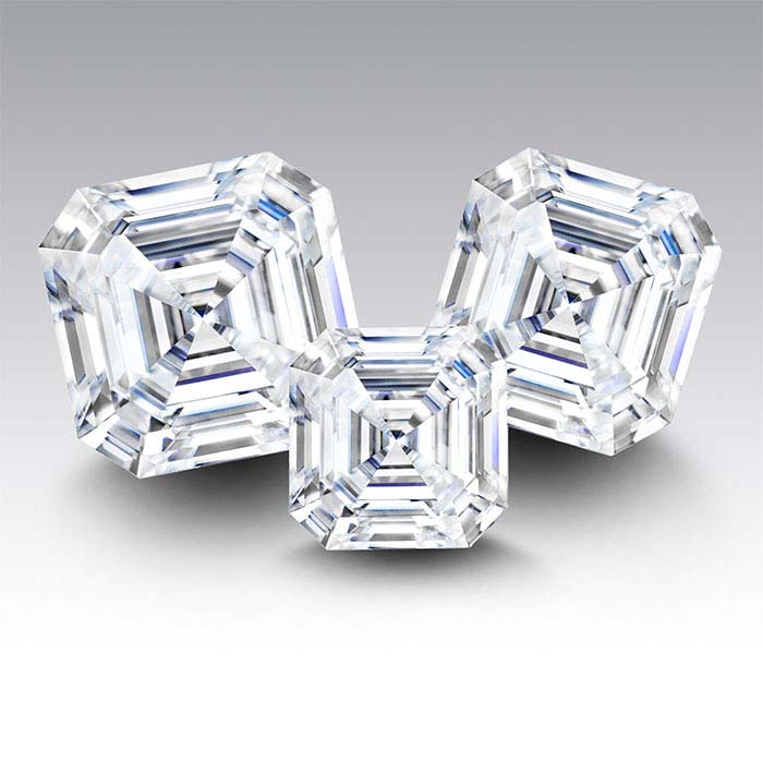 Charles & Colvard® Forever One™ Moissanite 6.5mm Asscher Faceted Stone, D-F Color