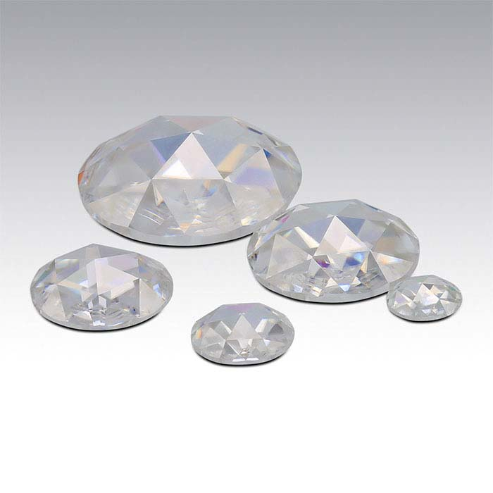 Charles & Colvard® Forever One™ Moissanite 7mm Rose-Cut Stone, Near-Colorless