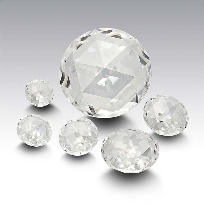 Charles & Colvard® Forever One™ Moissanite 2.5mm Double Rose-Cut Round Faceted Stone, Colorless