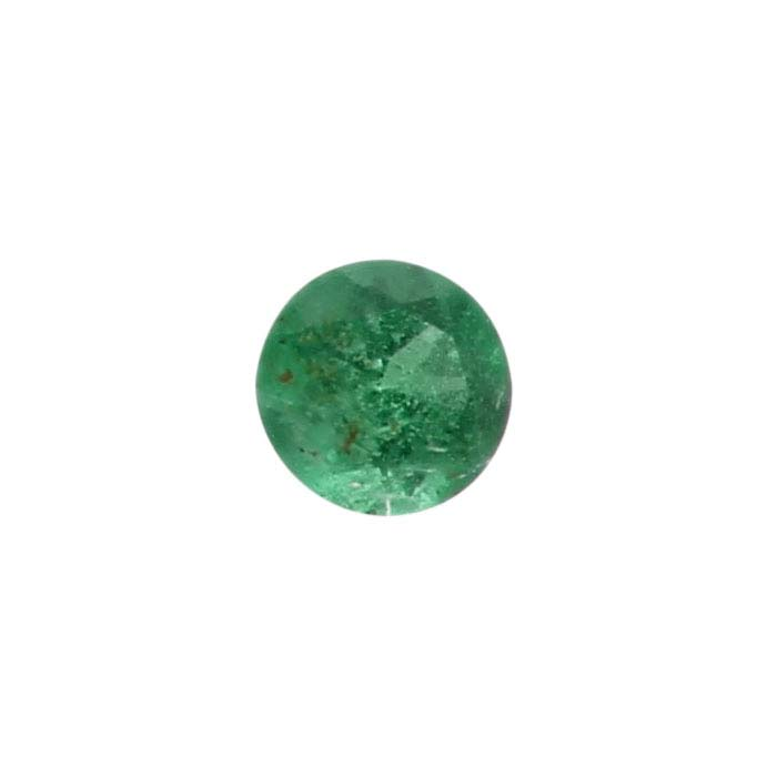 Emerald 2mm Round Faceted Stone, AAA-Grade