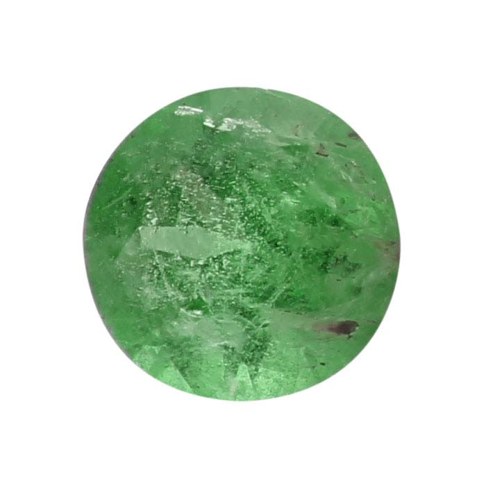 Emerald 4mm Round Faceted Stone, AA-Grade