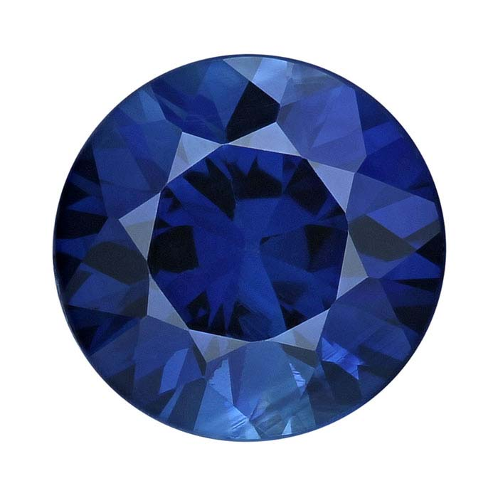 Sapphire 4mm Round Faceted Stone, AAA-Grade