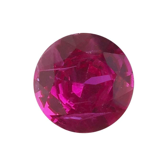 Ruby 2mm Round Faceted Stone, AAA-Grade