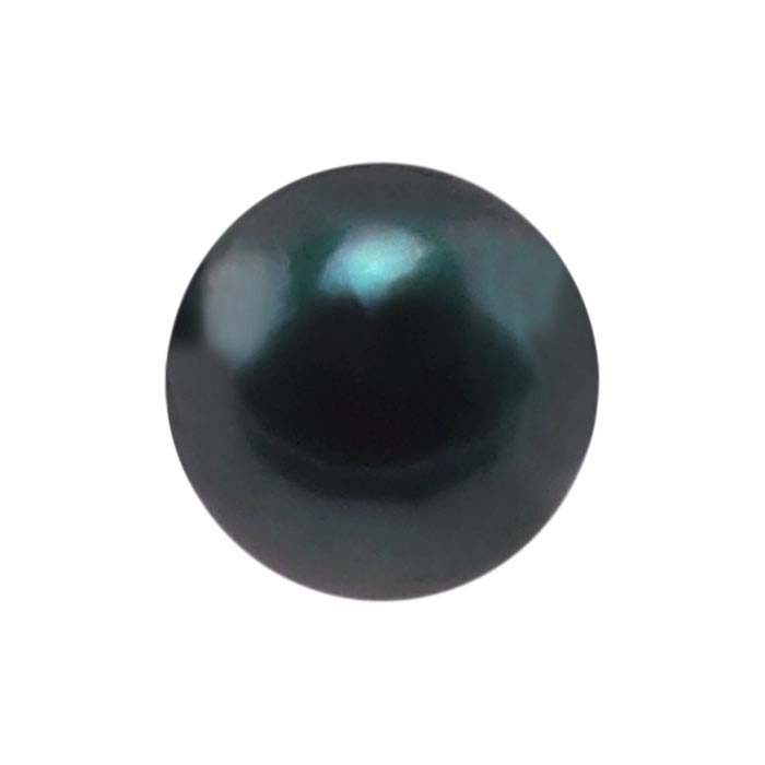 Akoya Cultured Half-Drilled 6mm Round Pearl, Black, A-Grade